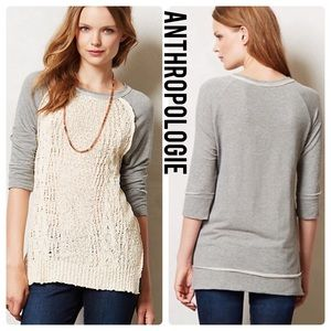 ANTHROPOLOGIE Dolan Parknit Crochet Sweater S